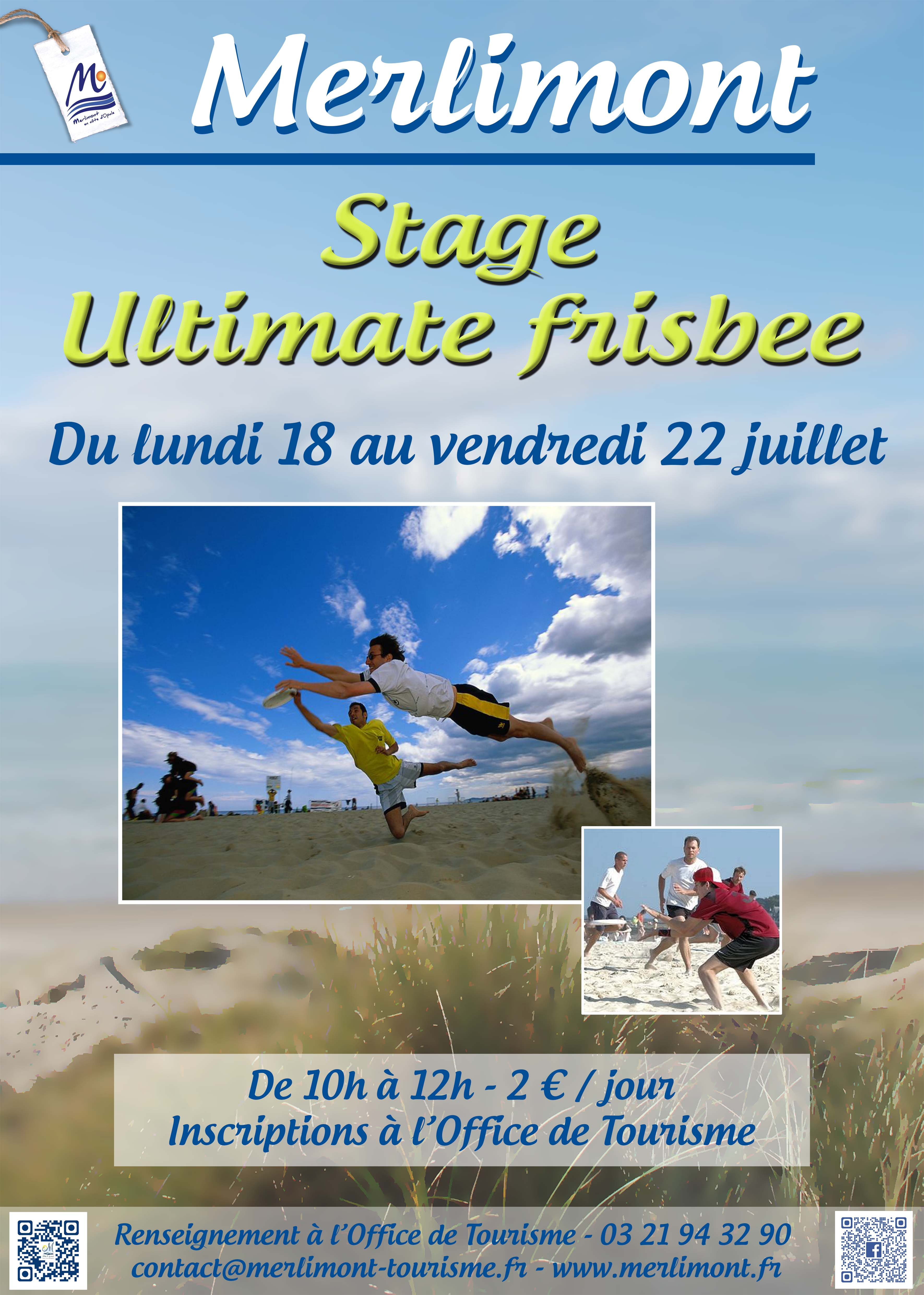 Stage ultimate frisbee merlimont - Office tourisme merlimont ...
