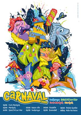 Calendrier Carnaval Dunkerque 2021 Carnaval de Dunkerque 2020 à Bergues, Cappelle la Grande