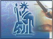 Logo représentant étude des maitres hubert louf - véronique lestoille - samuel delforge