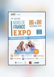 Logo représentant foire commerciale de gravelines - nord de france expo