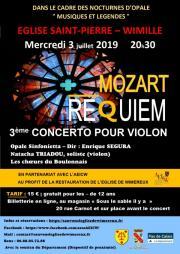Image illustrant Concerto n°3 pour violon et orchestre et Requiem de Mozart