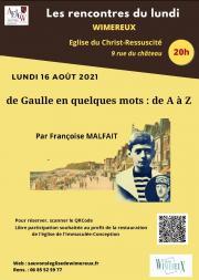 """Image illustrant """"De Gaulle, en quelques mots, de A à Z"""""""