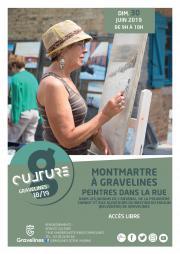 Image illustrant  Montmartre à Gravelines – Peintres dans la rue 2019
