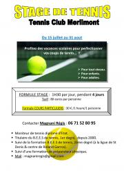 Image illustrant Stage de Tennis