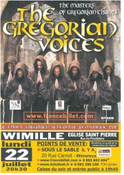 The Gregorian Voices en concert