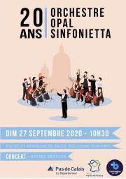 Concert «les 20 ans d'Opal Sinfonietta»