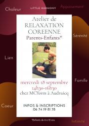 Atelier de Relaxation Coréenne Parents-Enfants