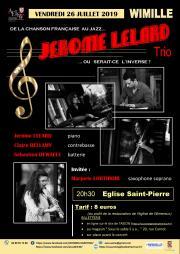 Concert de Jazz par Jérôme Lelard Trio