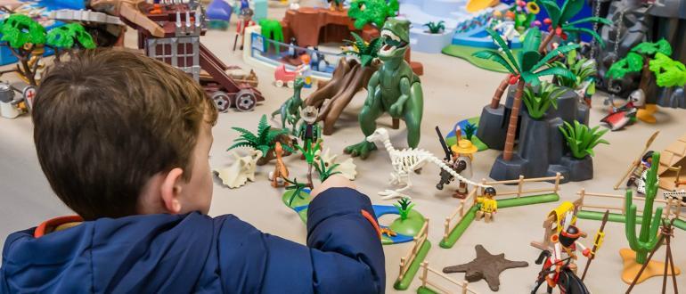 Visuel pour playmobil, l'exposition record