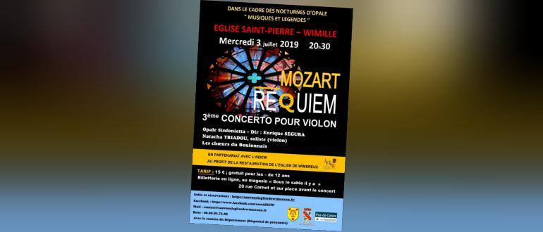 Visuel pour concerto n°3 pour violon et orchestre et requiem de mozart