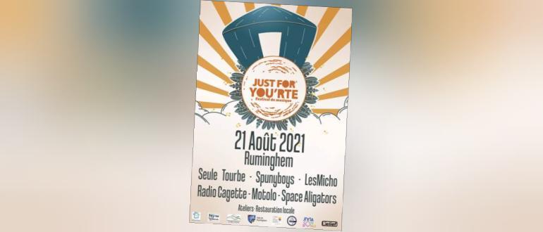 """Visuel pour festival """"just for you'rte"""""""