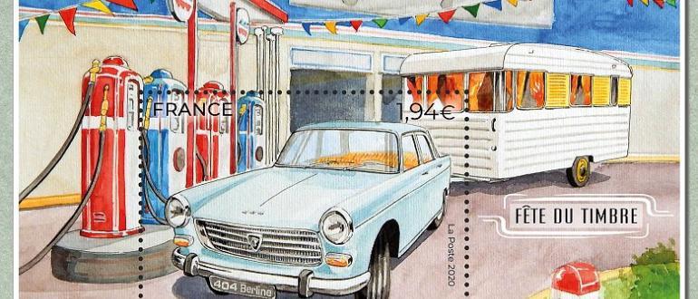 Visuel pour fête du timbre :  automobile  an iii.