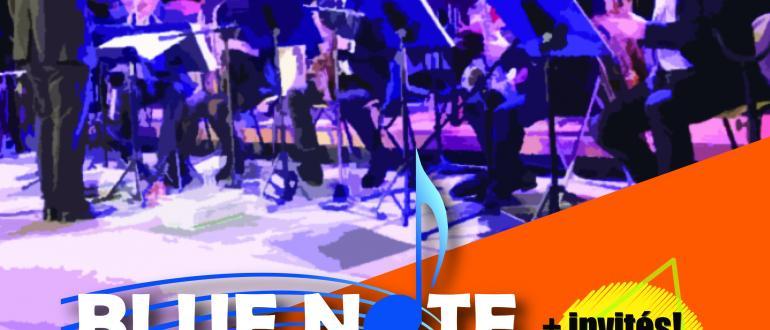 Visuel pour concert d'été du blue note big band