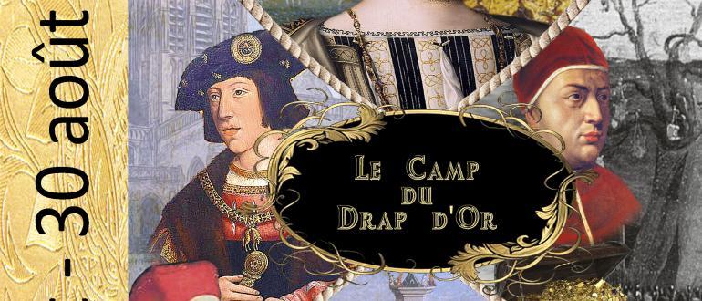 Visuel pour exposition du camp du drap d'or à notre-dame de calais