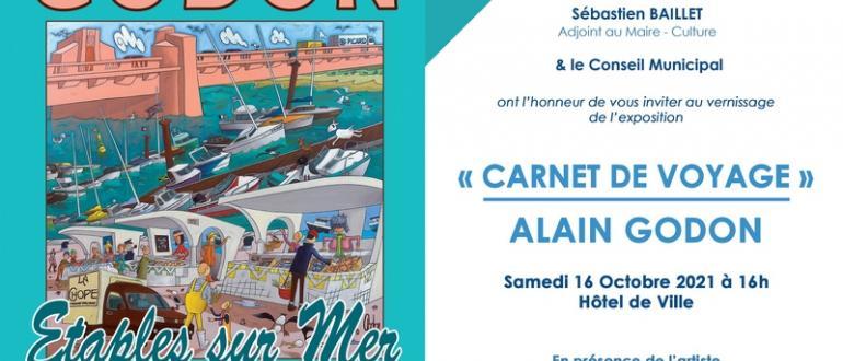 """Visuel pour exposition """"le carnet de voyage"""""""