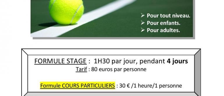 Visuel pour stage de tennis