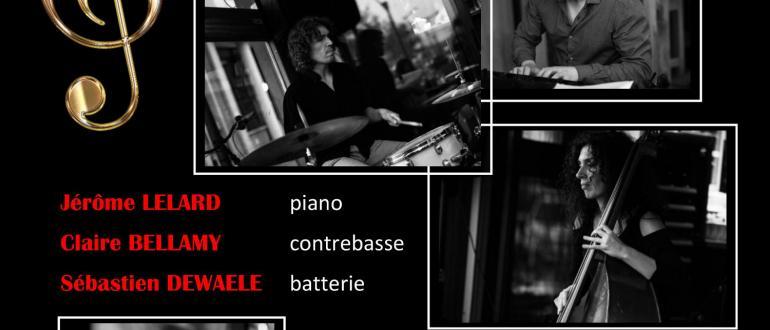 Visuel pour concert de jazz par jérôme lelard trio