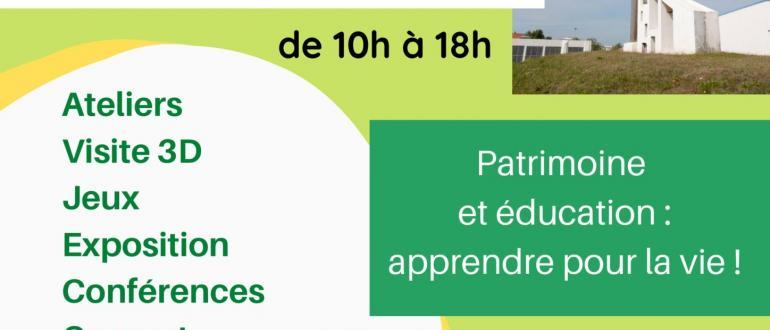 Visuel pour journées du patrimoine : : expo, conférences, concert, ateliers...
